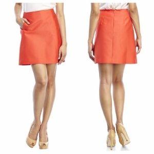 Kate Spade Orange A-line Bnwt Mini Skirt Sz 2 NEW